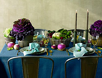 photo of a Thanksgiving table